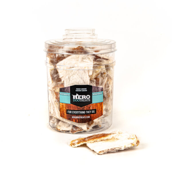 Dehydrated Rabbit Rind 400g (70 pieces)
