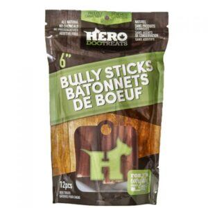 dehydrated beef pizzle chew 6inch 12 pack